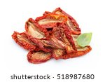 Dried Tomatoes Isolated On...