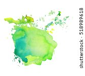 Abstract isolated colorful vector watercolor stain. Grunge element for paper design   Shutterstock vector #518989618