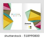 vector triangle business... | Shutterstock .eps vector #518990800