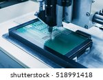 microchip production factory.... | Shutterstock . vector #518991418