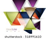 glossy glass modern triangle... | Shutterstock .eps vector #518991610