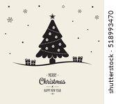 christmas tree decoration...   Shutterstock .eps vector #518993470