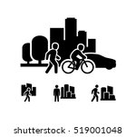 city people | Shutterstock .eps vector #519001048