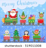 merry christmas and new year.... | Shutterstock .eps vector #519011008