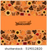 happy thanksgiving greeting... | Shutterstock .eps vector #519012820