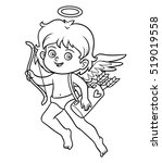 coloring book for children ... | Shutterstock .eps vector #519019558