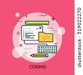program code window  keyboard ... | Shutterstock .eps vector #519022270