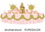 served dining table in princess ... | Shutterstock .eps vector #519026134
