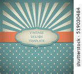 vintage design template with... | Shutterstock .eps vector #519030484