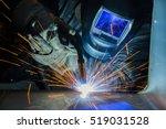 welder industrial automotive... | Shutterstock . vector #519031528