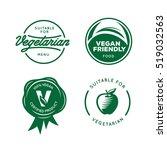 suitable for vegetarian. vegan...   Shutterstock .eps vector #519032563