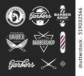 Barber Shop Badges Set. Barber...