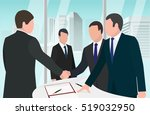 businessmen successful deal... | Shutterstock .eps vector #519032950
