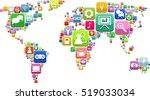 world map consisting of web... | Shutterstock .eps vector #519033034