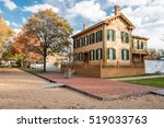 Abraham Lincoln House in Autumn in Springfield, Illinois