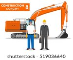 worker concept. detailed... | Shutterstock .eps vector #519036640