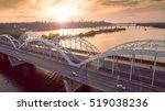 Automobile And Railroad Bridge...