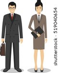 couple of business asian man... | Shutterstock .eps vector #519040654