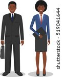 couple of business african... | Shutterstock .eps vector #519041644