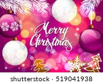 christmas. background with... | Shutterstock .eps vector #519041938