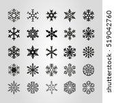 snowflake   Shutterstock .eps vector #519042760