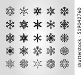 snowflake icon vector...   Shutterstock .eps vector #519042760