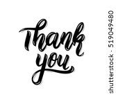thank you. trendy hand... | Shutterstock .eps vector #519049480