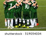 sports team standing together... | Shutterstock . vector #519054034