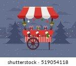 Christmas Market . Flat Design...