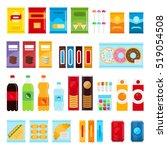 vending machine product items... | Shutterstock .eps vector #519054508