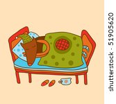 cartoon dog sleeps | Shutterstock .eps vector #51905620