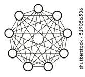 neural net. neuron network.... | Shutterstock .eps vector #519056536