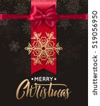 elegant christmas background... | Shutterstock .eps vector #519056950