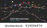 Christmas Garland Isolated On...