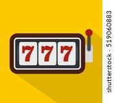 slot machine with three sevens... | Shutterstock . vector #519060883