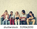diversity students friends... | Shutterstock . vector #519062050