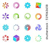 download status icons set.... | Shutterstock . vector #519063658