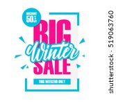 big winter sale. special offer... | Shutterstock .eps vector #519063760
