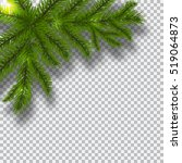 green branches of a christmas... | Shutterstock .eps vector #519064873