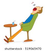 sleep on the chair | Shutterstock .eps vector #519065470
