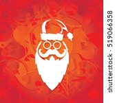 Santa Claus With Beard Vector...
