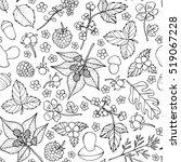 vector doodle floral pattern.... | Shutterstock .eps vector #519067228