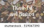 thanksgiving blessing... | Shutterstock . vector #519067390