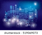 city lights. vector... | Shutterstock .eps vector #519069073