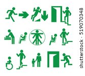 signs of evacuation and... | Shutterstock .eps vector #519070348
