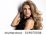 young fashionable beauty woman   | Shutterstock . vector #519072538