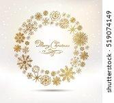 set of vector snowflakes   Shutterstock .eps vector #519074149