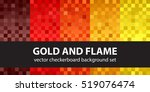 "checkerboard pattern set ""gold... 