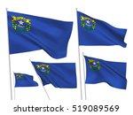 usa nevada vector flags. a set... | Shutterstock .eps vector #519089569