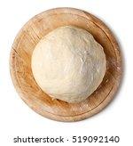 Fresh Raw Dough On Wooden Boar...